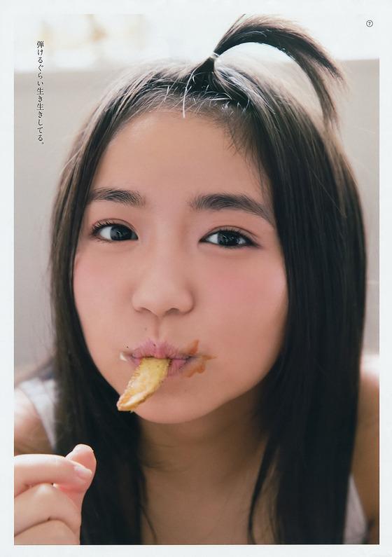 大原優乃ちゃんが口の周りベチョベチョのフェラ顔を披露!